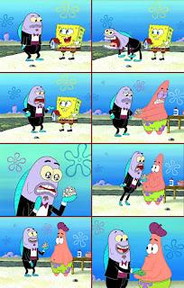 Polosan meme spongebob dan patrick 89 - patrick menjadi seniman yang kaya raya dari hasil jual batu ditempelin mata mainan