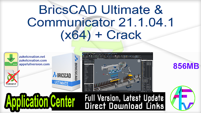 BricsCAD Ultimate & Communicator 21.1.04.1 (x64) + Crack