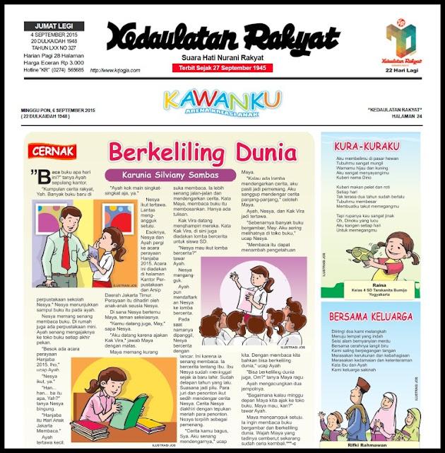 Harian Kedaulatan Rakyat edisi Minggu, 06 September 2015