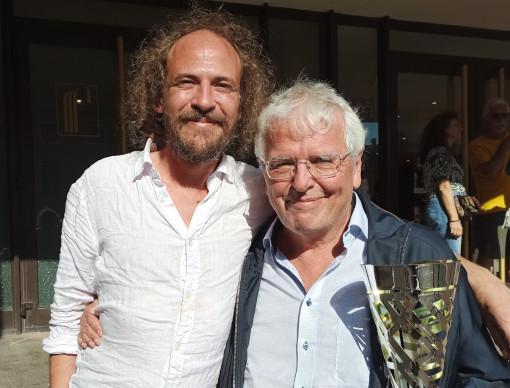 Vincent Colin (à gauche) et Christoph Frick à la sortie de la cérémonie de clôture du Festival international d'échecs de Dieppe - Photo © Les Informations Dieppoises
