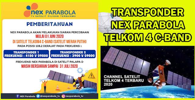 Transponder TP Frekuensi Nex Parabola Telkom 4 Terbaru Mei, Juni 2020 Parabola Jaring Solid LNB C-Band dan Ku-Band