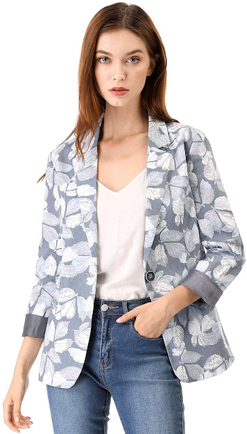 Trendy Floral Blazers Jackets for Women