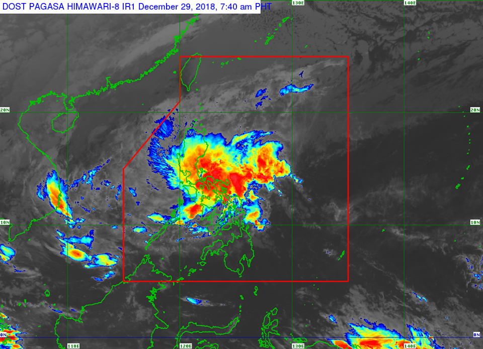 Satellite image of Low Pressure Area (LPA), formerly #UsmanPH