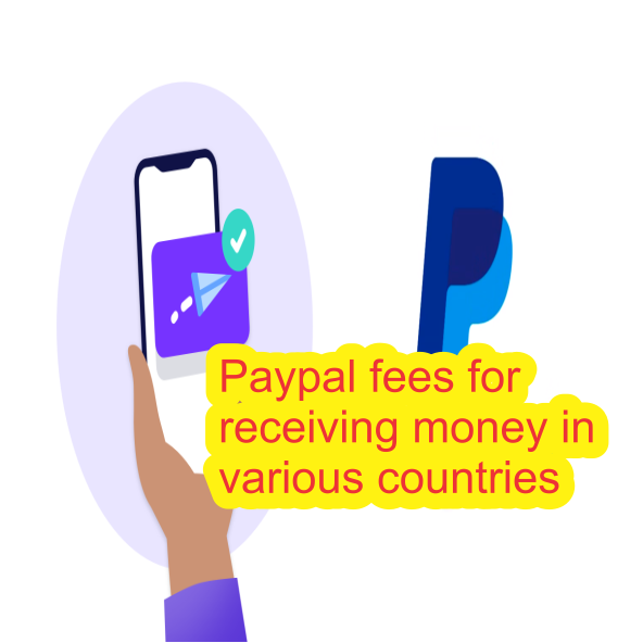 Paypal fees for receiving money in various countries