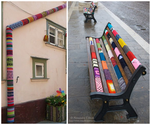 yarn bombing intervencion urbana