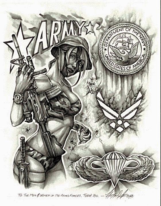 o gagica cu arma idee tatuaj