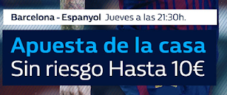 william hill promocion Barcelona vs Espanyol 25 enero