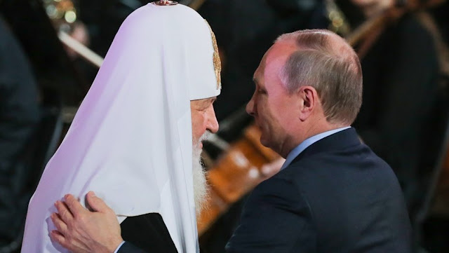 Patriarch of Moscow and All Russia Kirill and V.V.Putin photo