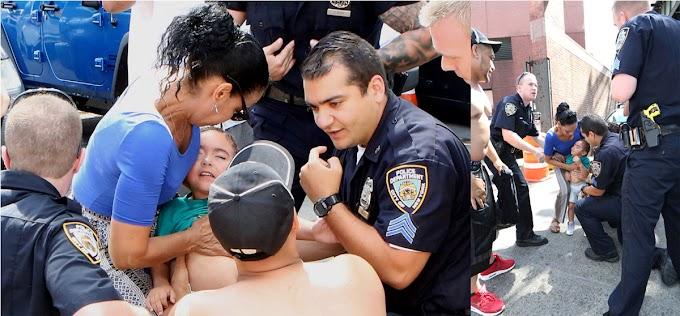 Policías del cuartel 44 en El Bronx salvan de la muerte un niño de 3 años víctima de ataque