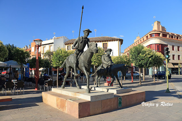 Don Quijote y Sancho Panza de Plaza de España de Alcázar de San Juan