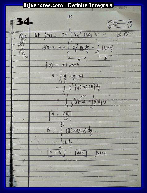 definite integrals class 12-3