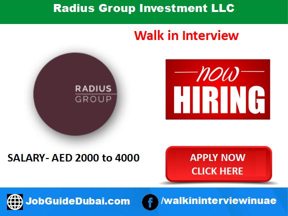 Radius Group Investment LLC career for Cooks and Chefs jobs in Dubai UAE