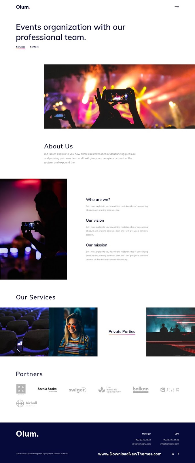 Business & Events Management Agency Template