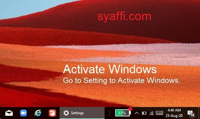 4. Watermark Activate Windows Go to Setting to Activate Windows