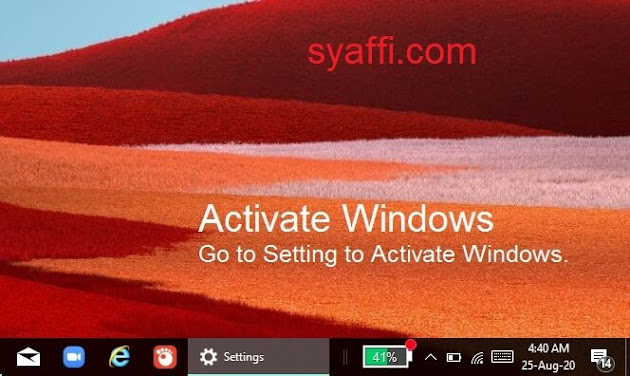 4. Watermark Activate Windows Go to Setting to Activate Windows - Windows 10 Product Key