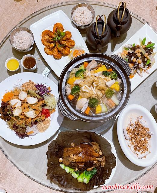 Purple Cane Tea Restaurant, Chinese New Year 2021 Menu, Food Review, Healthy Yee Sang, puer tea, Tea Cuisine, Tea Infused dish food, Food