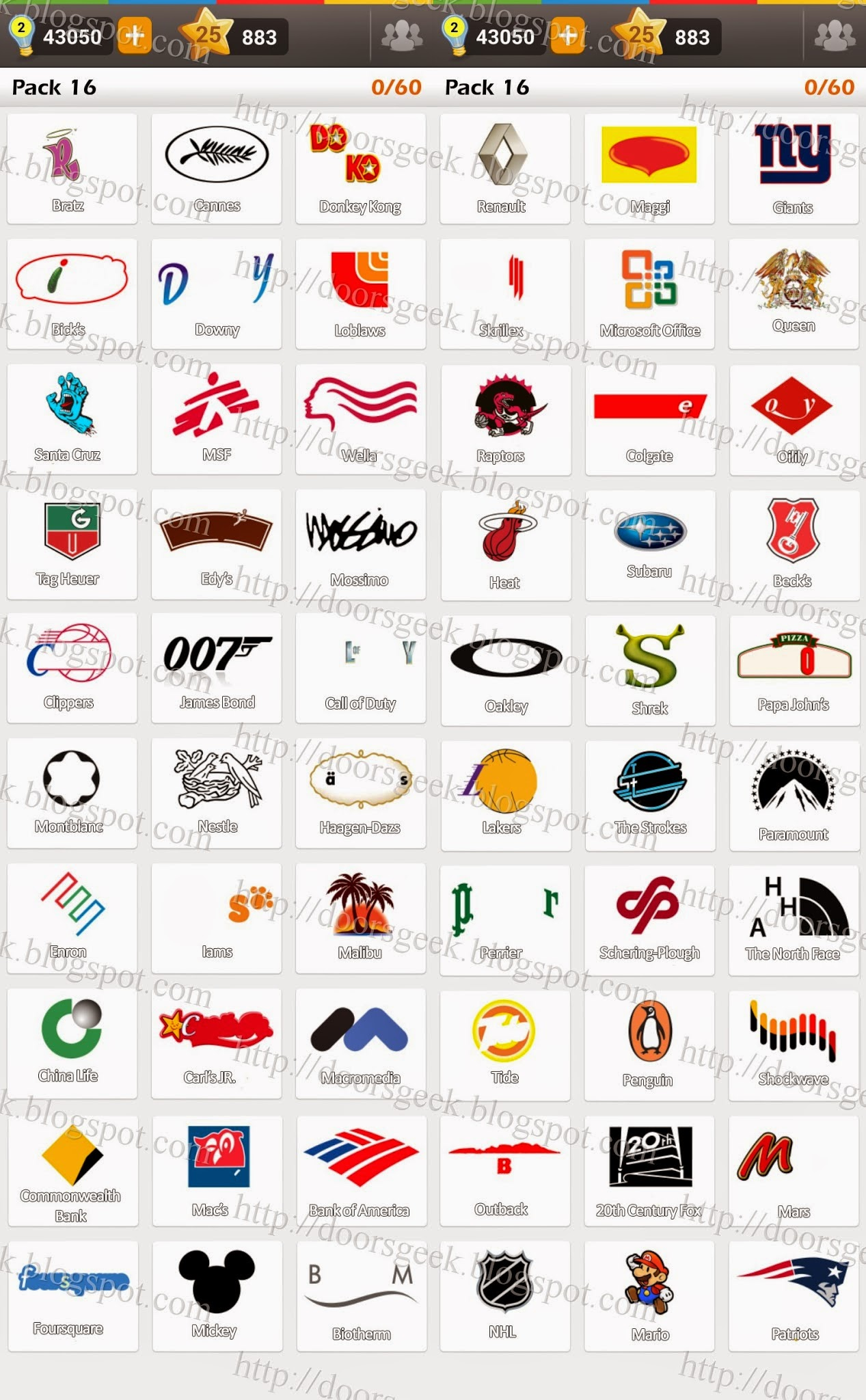 Logo Game Answers Pack 1 - Bing images