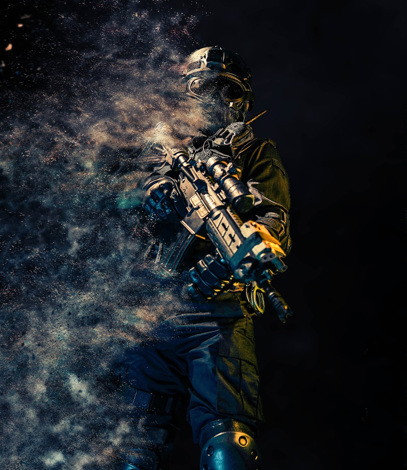 soldier in all black fading into smoke to illustrate blog post about covert op war movies