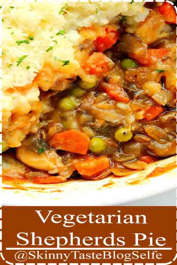 4.8 | ★★★★★ Vegetarian Shepherd s Pie Recipe - a meatless version of a classic British-Irish dish. The rich mushroom gravy with vegetables is topped with fluffy mashed potatoes and baked.#Vegetarian #mushroom #potatoes