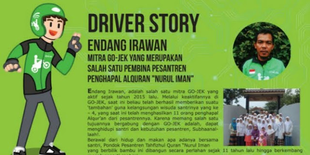 Bikin Salut, Kerja Jadi Driver Ojek Online Endang Irawan Punya Pesantren Hafidz