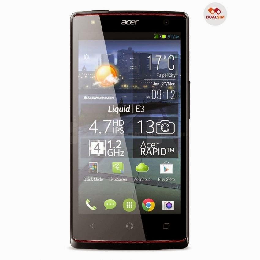 Spesifikasi Dan Harga Acer E380 Liquid E3 Duo - 16 GB
