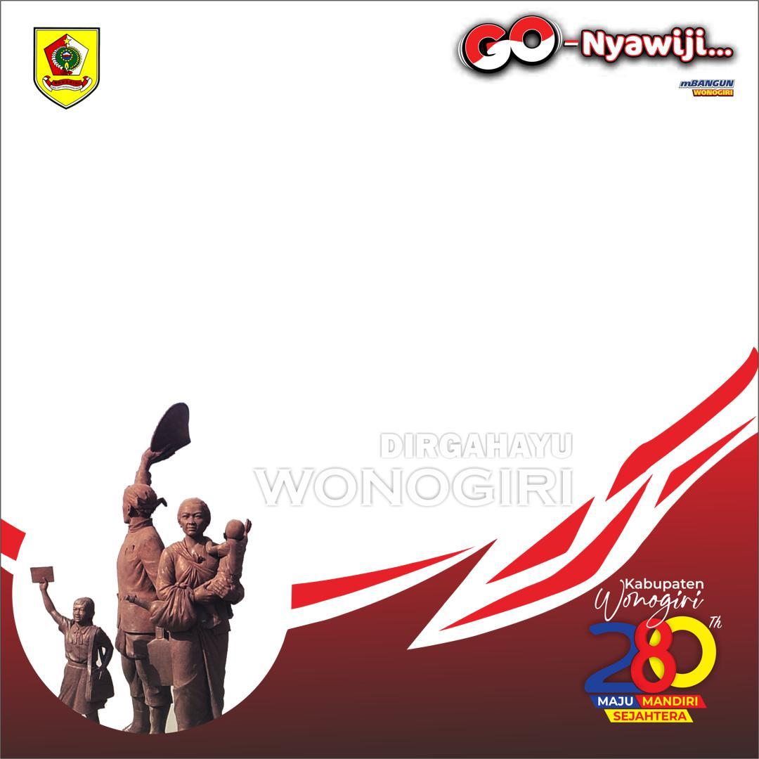 Desain Bingkai Foto Twibbon Hari Jadi Wonogiri 2021
