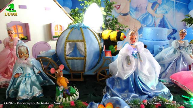 Decoração de mesa temática Cinderela luxo
