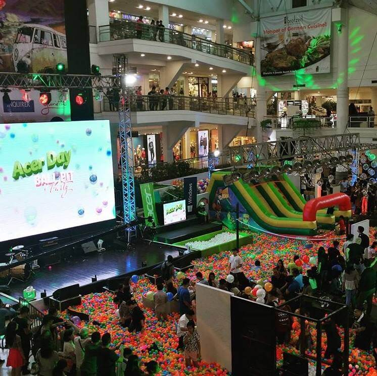 Acer Philippines Throws Grand Ball Pit Party In Celebration Of Its 1st Transnational Brand Day Event