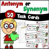 Antonym or Synonym Task Cards