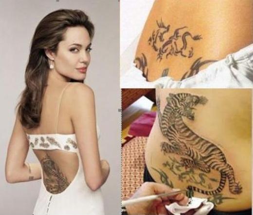 Tatuagem feminina - Angelina Jolie