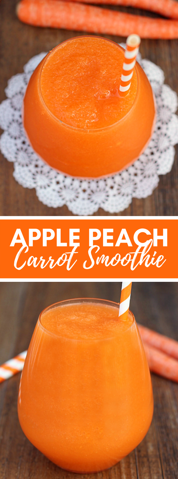 Apple Peach Carrot Smoothie #drinks #healthy