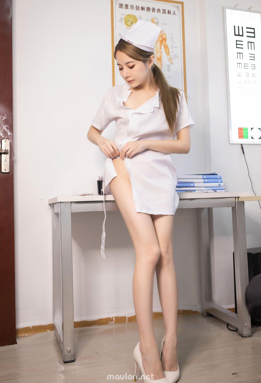 MauLon.Net - Hình ảnh nữ y tá sexy xiuren 03