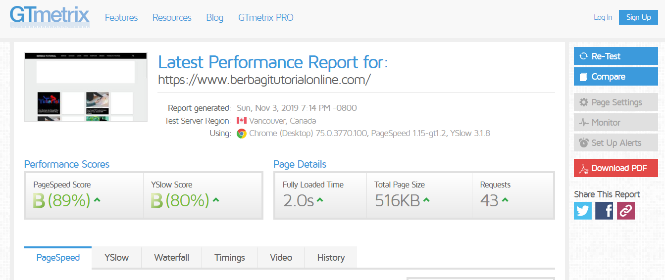 Page Speed Blog