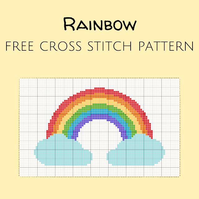 Rainbow free cross stitch pattern