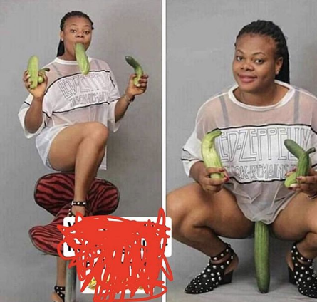 Trending photo of Enugu Lady Playing with Cucumber