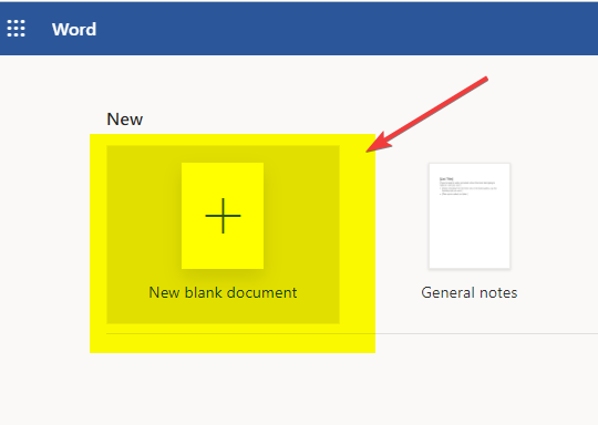 click-on-new-blank-microsoft-word-document