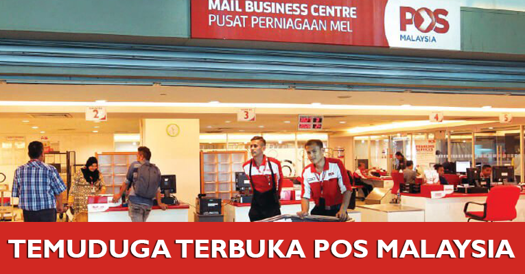 Temuduga Terbuka di Pos Malaysia Berhad Jawatan Posmen / Posnita / Kurier / Pemandu Van & Lori