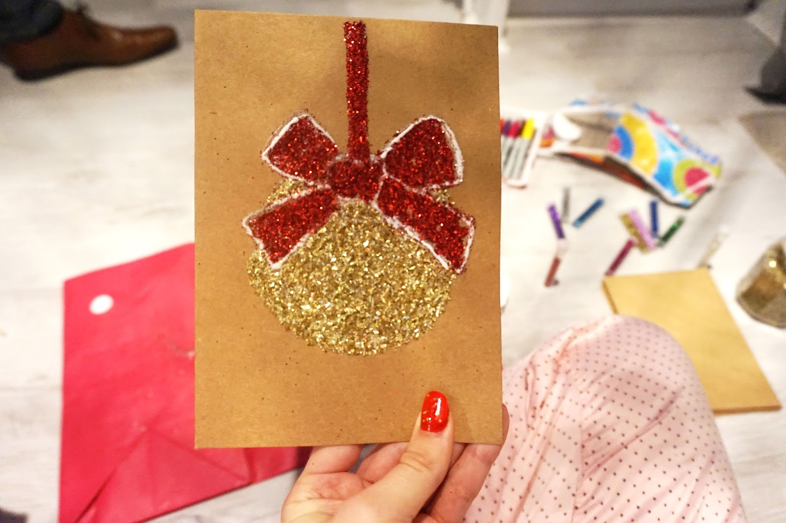 Last Minute Diy Christmas Cards The Girl With The Big Hair