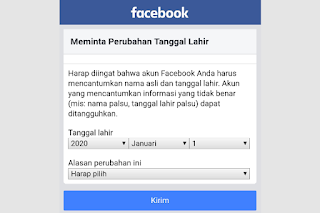 Cara Mengubah Tanggal Lahir di FB Yang Tidak Bisa Diganti