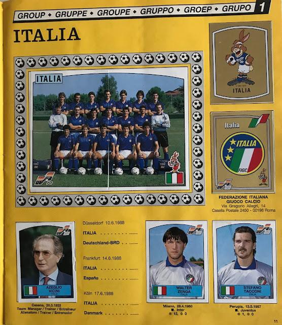 Figurine Italia Euro 88