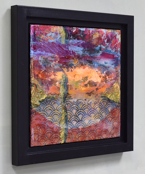 abstract colorful resin painting