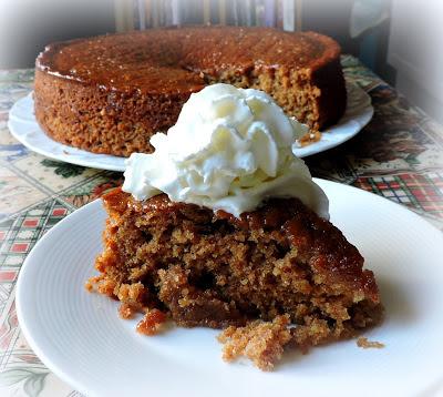 Lemon Gingerbread Drizzle Cake