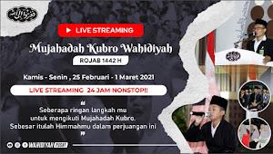Mujahadah Kubro Wahidiyah 2021 Secara Live Streaming Dan Virtual