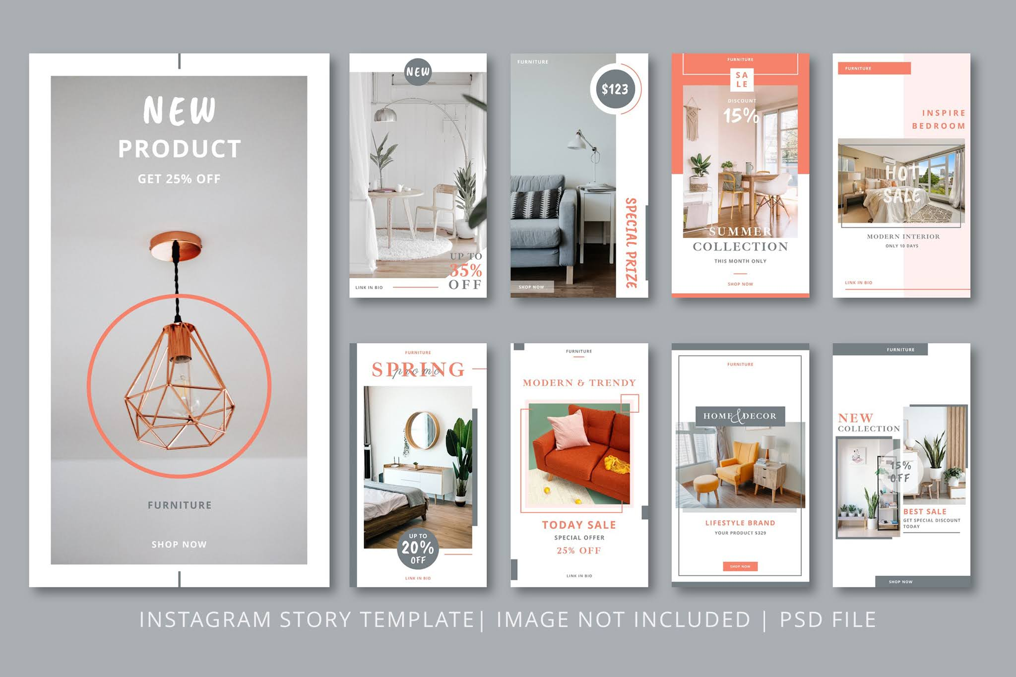 Download open source banners PSD social media and Instagram in the field of decoration and fashion 2