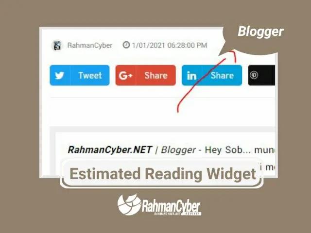 estimated reading widget