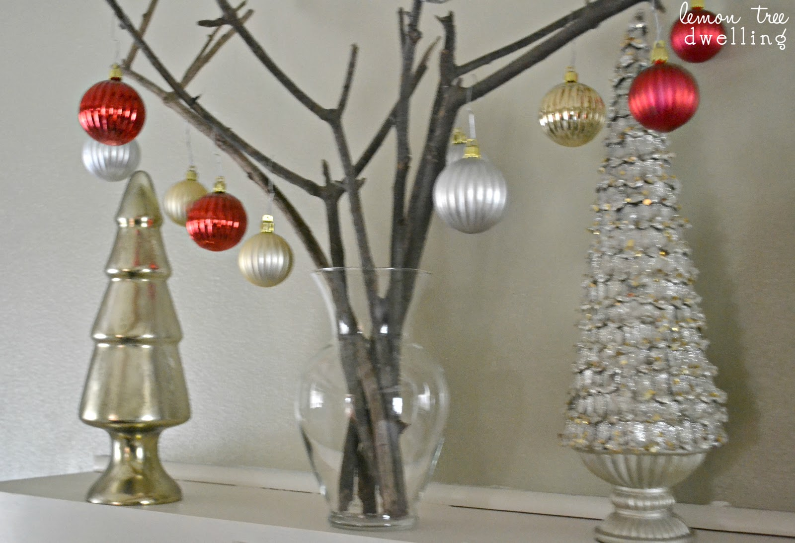 This Bare Branch Christmas Tree Is A Beautifully Simple Holiday Decor Piece