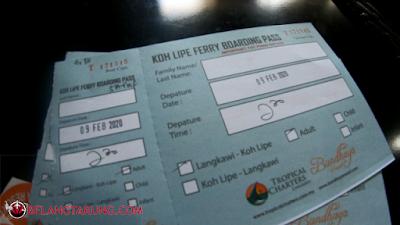 Tiket Feri Koh Lipe Tropical Charters - Bundhaya Resort