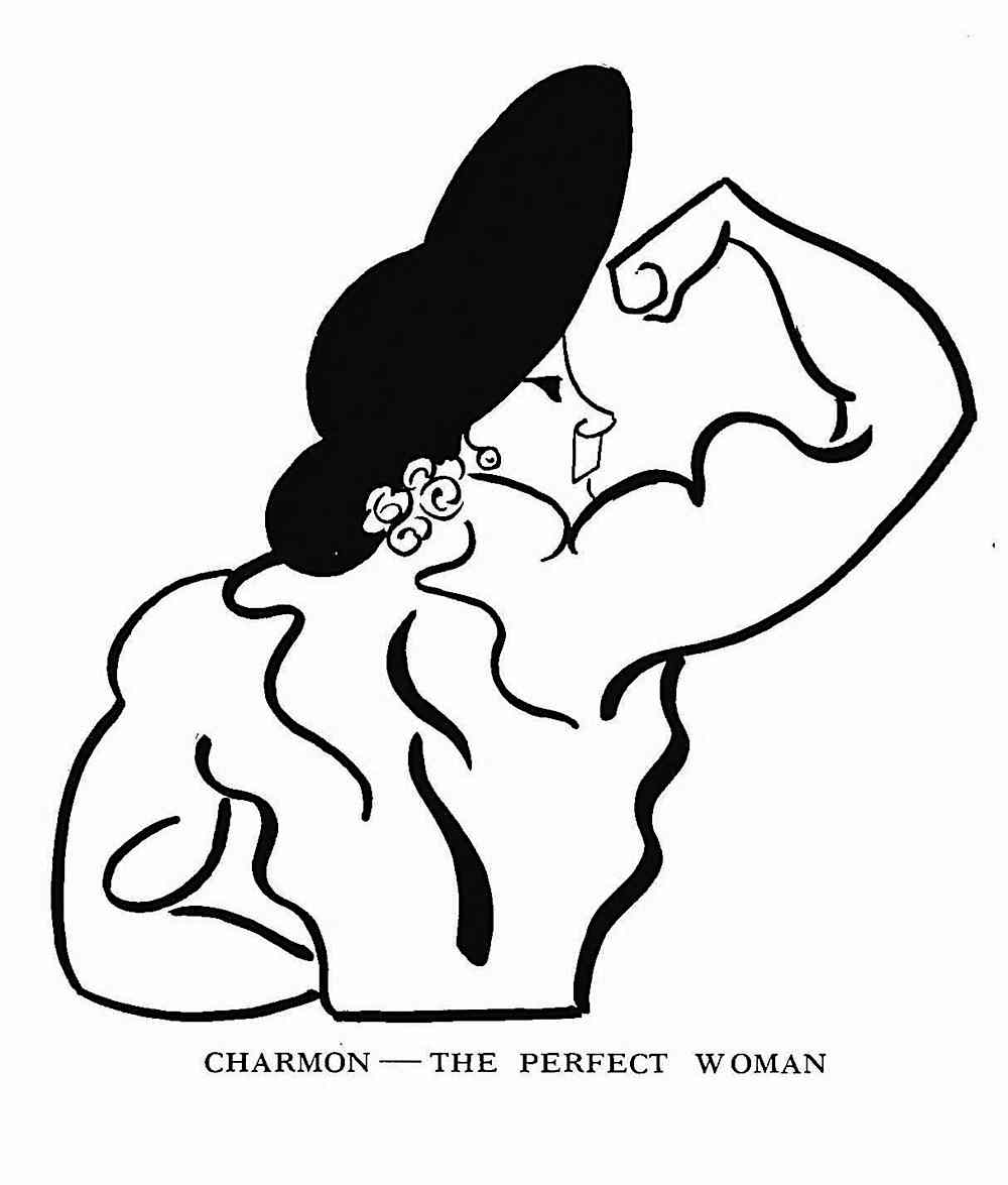 a 1915 Vaudeville performer, Charmon The perfect Woman