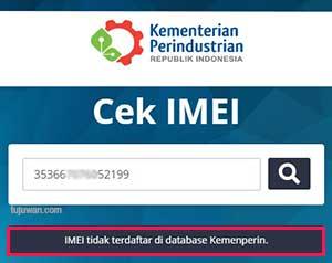 Cara Registrasi IMEI Yang Tidak Terdaftar