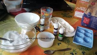 pastilles détartrantes désodorisantes wc zero dechet ecolo DIY bicarbonate soude acide citrique huiles essentielles